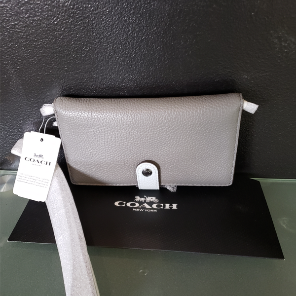 Picture - Black & Grey Coach Wristlet